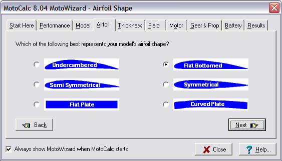 Motocalc Tutorial Model Aircraft Power System Selection